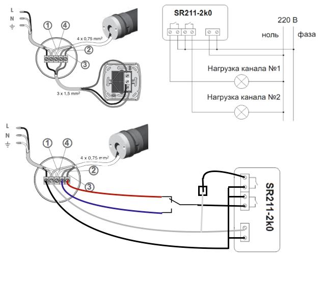 будет схема подключения жалюзи с электроприводом виду материала, которого