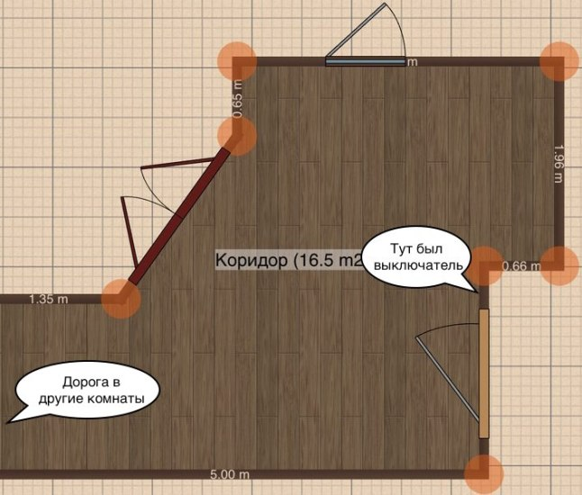 план коридора nooLite